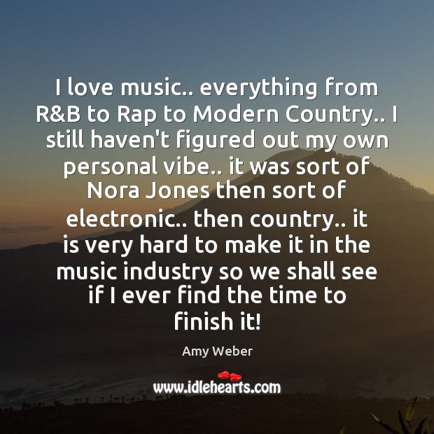 Image, I love music.. everything from R&B to Rap to Modern Country..