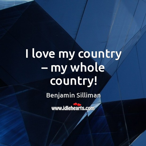 I love my country – my whole country! Image