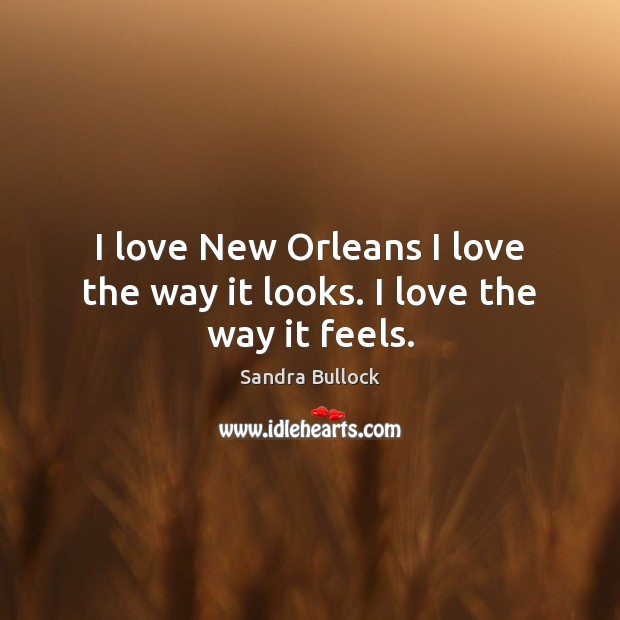 Image, I love New Orleans I love the way it looks. I love the way it feels.