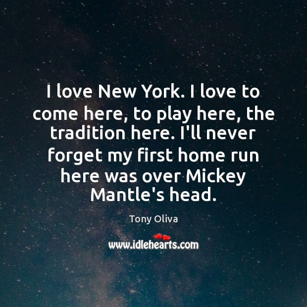 I love New York. I love to come here, to play here, Image