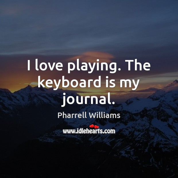 I love playing. The keyboard is my journal. Image