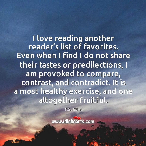 I love reading another reader's list of favorites. Even when I Image