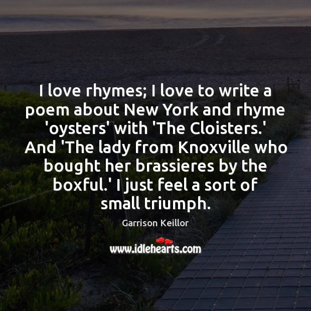 I love rhymes; I love to write a poem about New York Image