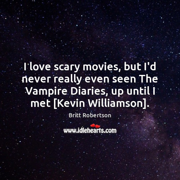 Image, I love scary movies, but I'd never really even seen The Vampire
