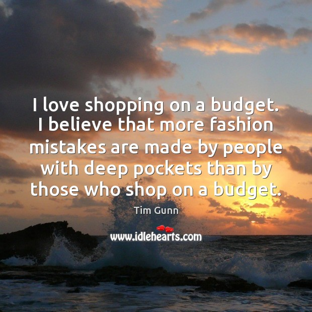 I love shopping on a budget. I believe that more fashion mistakes Image