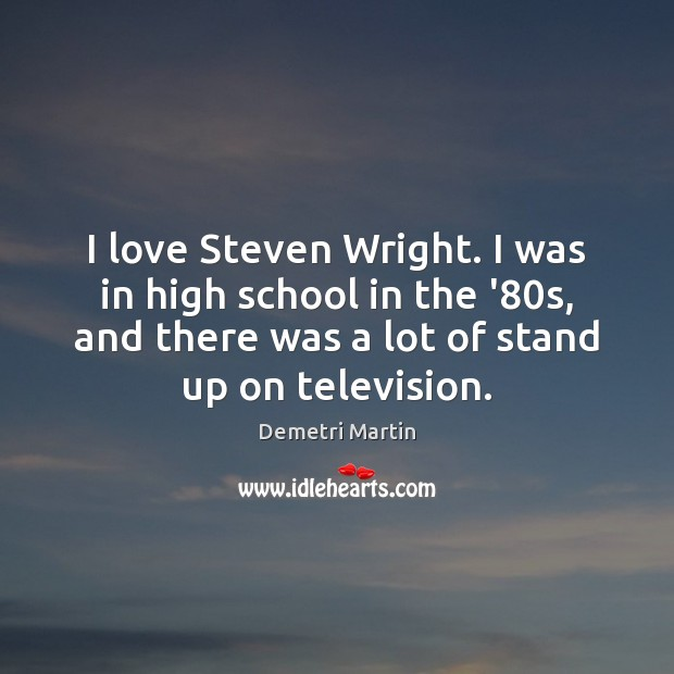 I love Steven Wright. I was in high school in the '80 Image