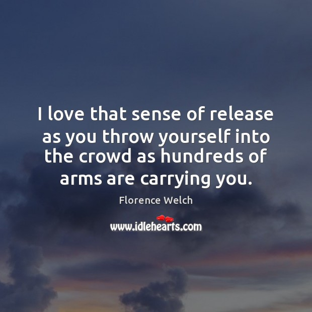 I love that sense of release as you throw yourself into the Image