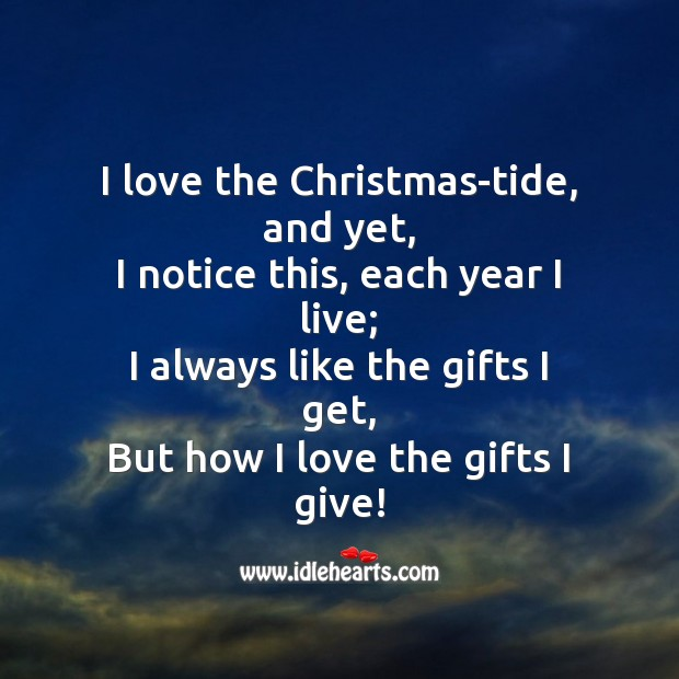 Image, I love the christmas-tide