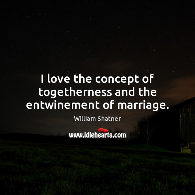 I love the concept of togetherness and the entwinement of marriage. Image