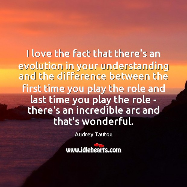 I love the fact that there's an evolution in your understanding and Image