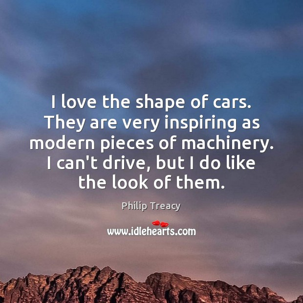 I love the shape of cars. They are very inspiring as modern Image