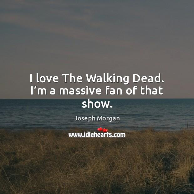 I love The Walking Dead. I'm a massive fan of that show. Image