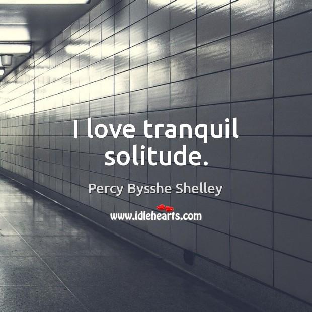 I love tranquil solitude. Image
