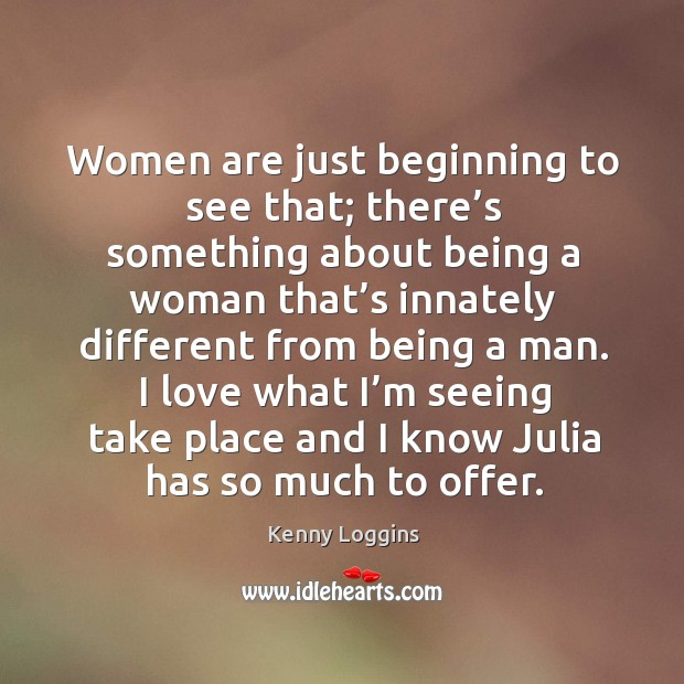 I love what I'm seeing take place and I know julia has so much to offer. Image