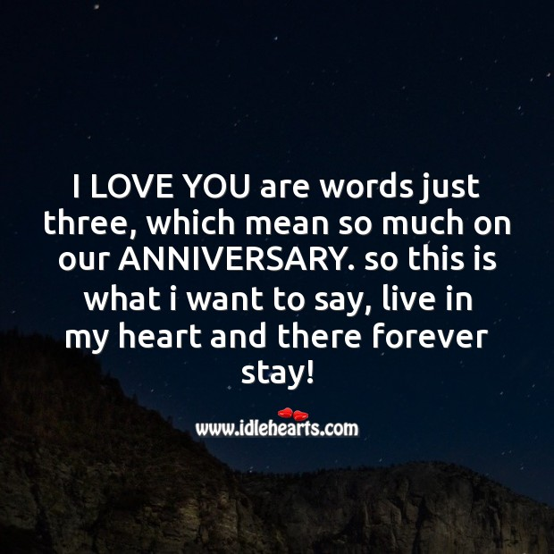 I love you are words just three Image
