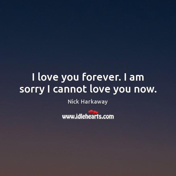 Image, I love you forever. I am sorry I cannot love you now.