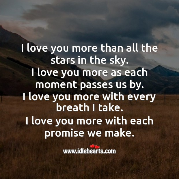 Image about I love you more than all the stars in the sky.