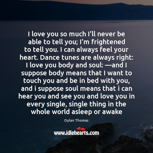 I love you so much I'll never be able to tell Love You So Much Quotes Image