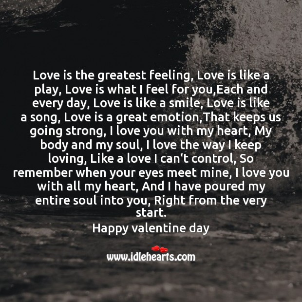 I love you with my heart Valentine's Day Messages Image