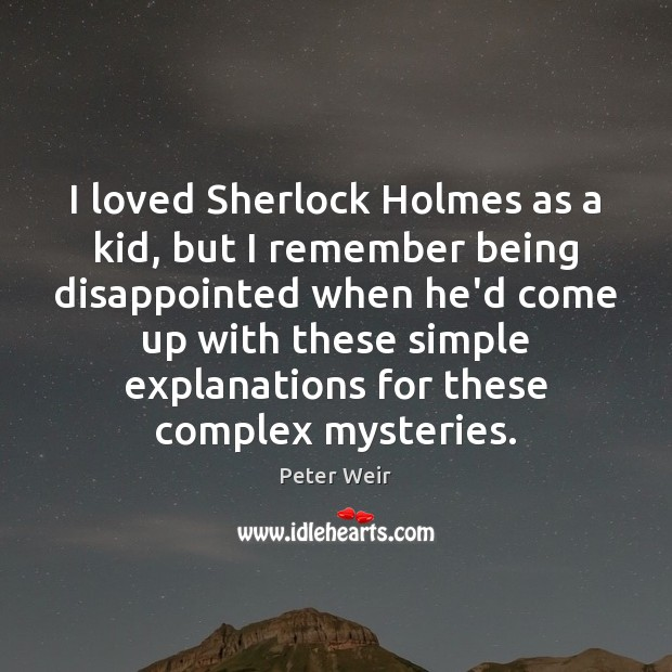 Image, I loved Sherlock Holmes as a kid, but I remember being disappointed