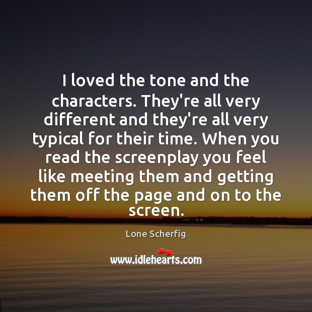 I loved the tone and the characters. They're all very different and Image