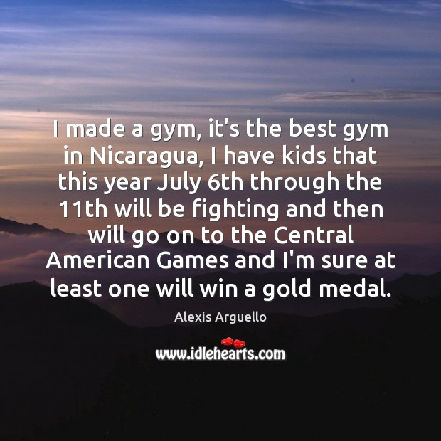Image, I made a gym, it's the best gym in Nicaragua, I have