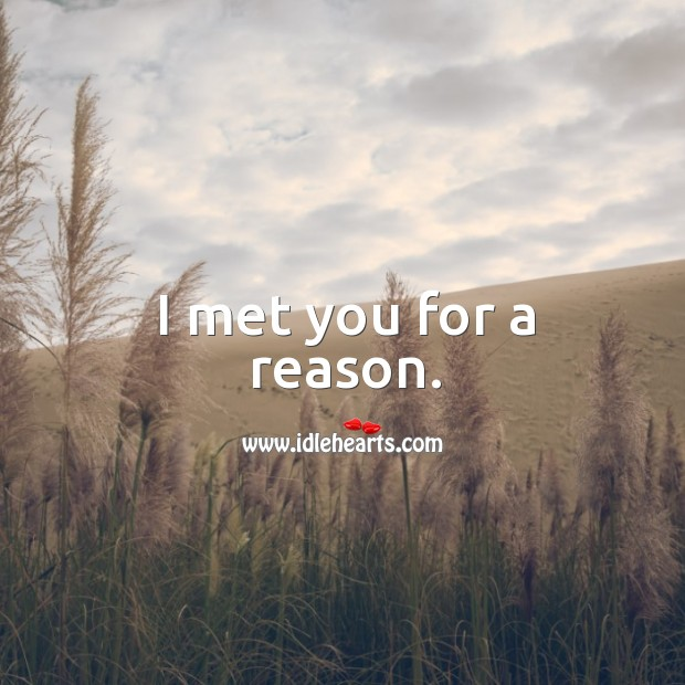 I met you for a reason. Image