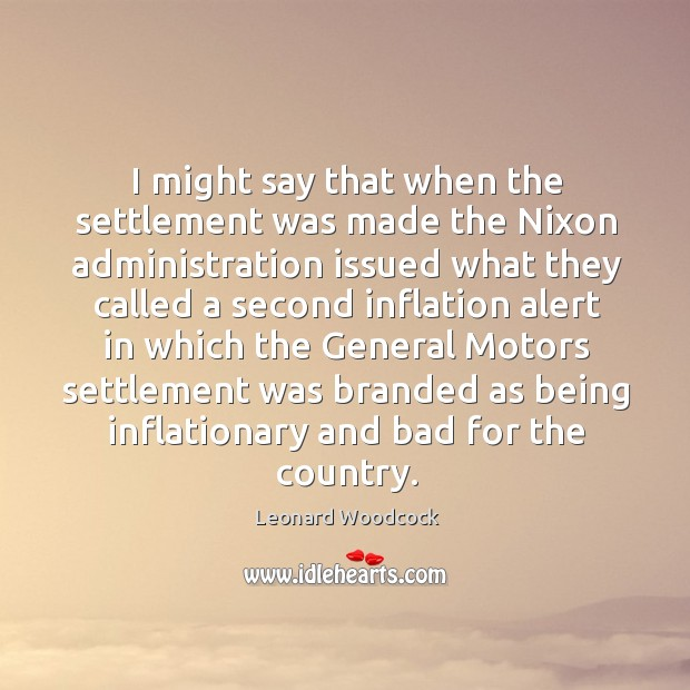 I might say that when the settlement was made the nixon administration issued what Image