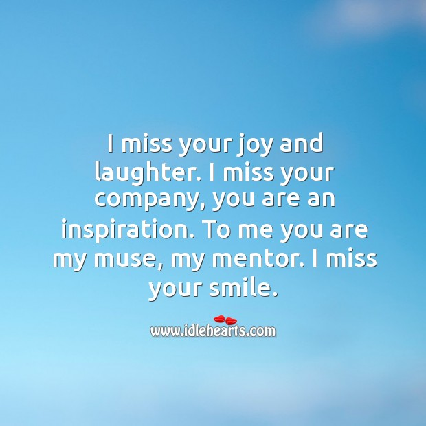 I miss your smile. Love Messages Image