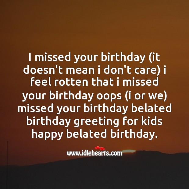 Image, I missed your birthday