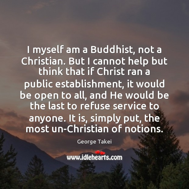 Image, I myself am a Buddhist, not a Christian. But I cannot help