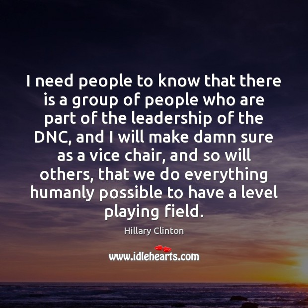 I need people to know that there is a group of people Image