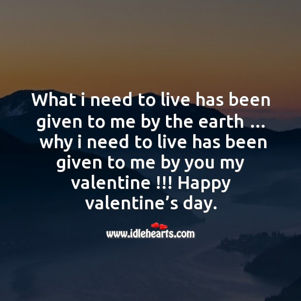 I need to live Valentine's Day Quotes Image