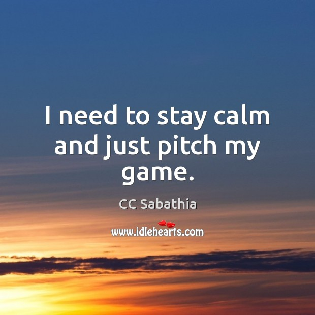 I need to stay calm and just pitch my game. Image