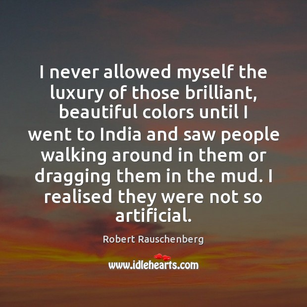 I never allowed myself the luxury of those brilliant, beautiful colors until Image