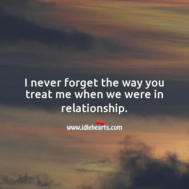 I never forget the way you treat me when we were in relationship. Relationship Quotes Image