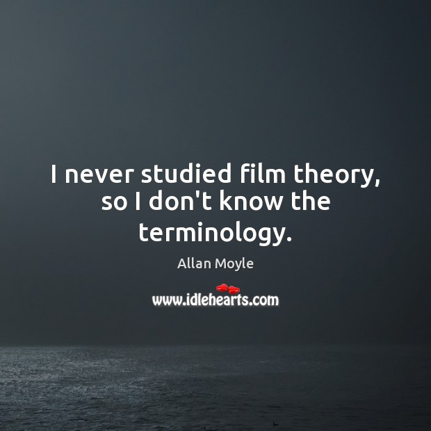 Image, I never studied film theory, so I don't know the terminology.