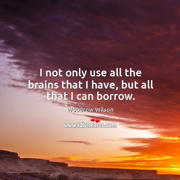 Image, I not only use all the brains that I have, but all that I can borrow.