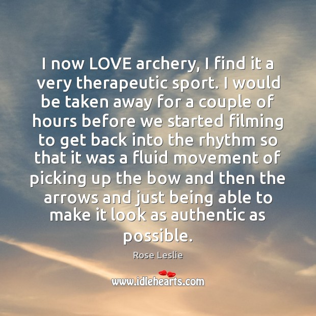I now LOVE archery, I find it a very therapeutic sport. I Image