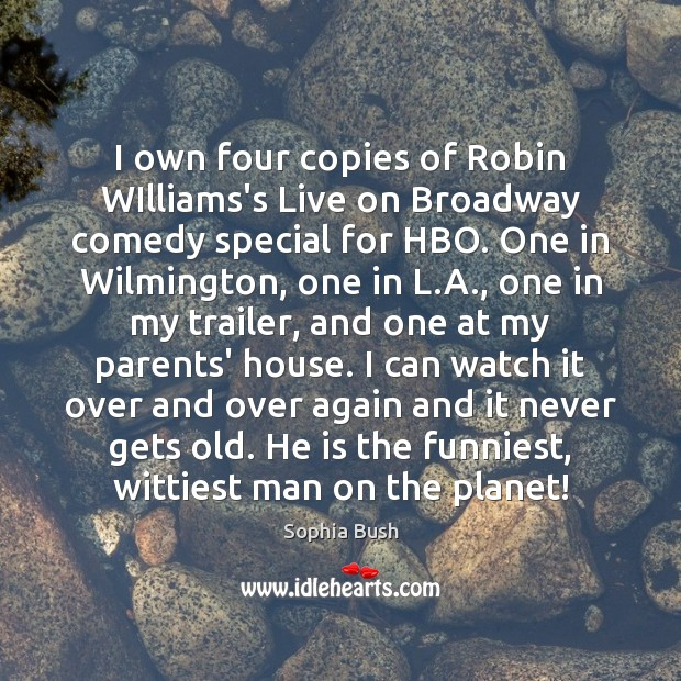 I own four copies of Robin WIlliams's Live on Broadway comedy special Image