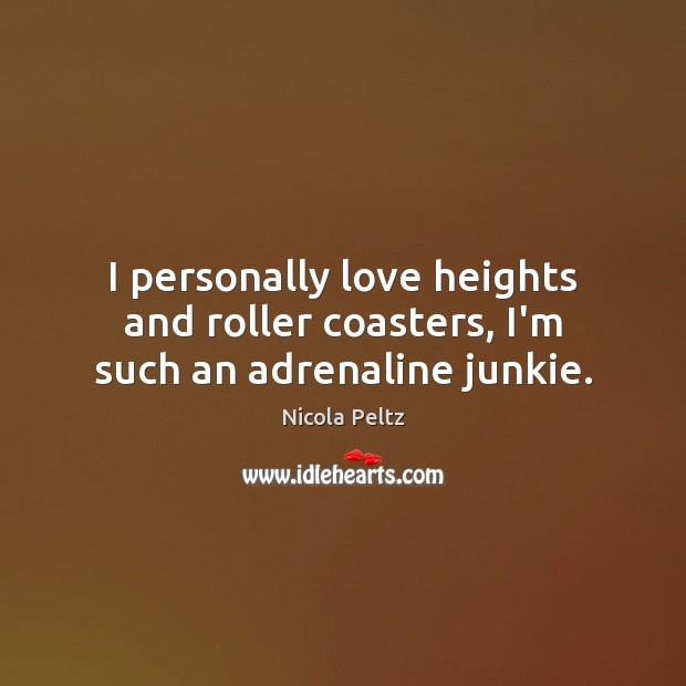 Image, I personally love heights and roller coasters, I'm such an adrenaline junkie.