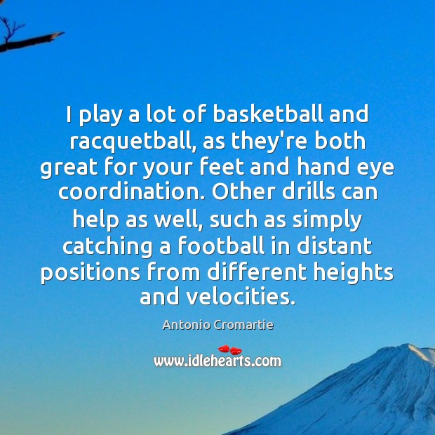 Image, I play a lot of basketball and racquetball, as they're both great