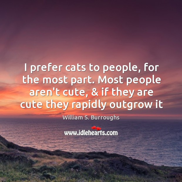 I prefer cats to people, for the most part. Most people aren't Image