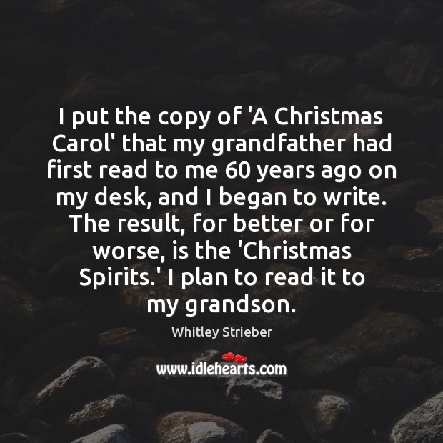 Image, I put the copy of 'A Christmas Carol' that my grandfather had