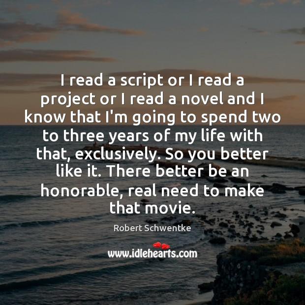 I read a script or I read a project or I read Image