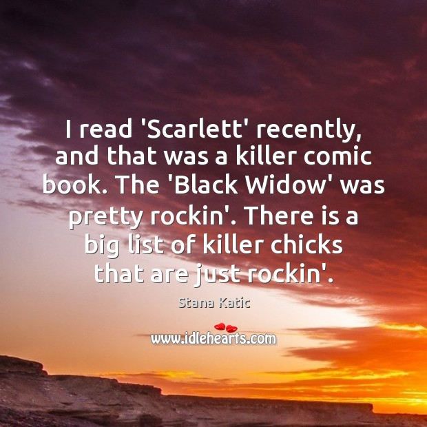 Image, I read 'Scarlett' recently, and that was a killer comic book. The