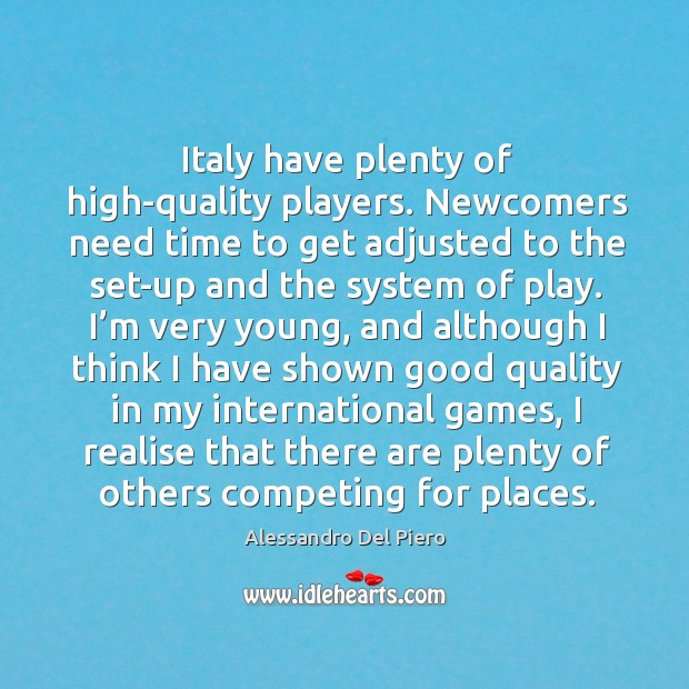 I realise that there are plenty of others competing for places. Image
