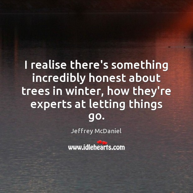 I realise there's something incredibly honest about trees in winter, how they're Image