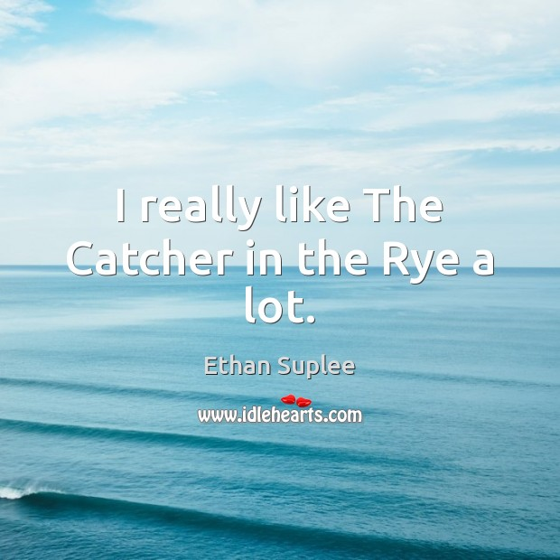 I really like The Catcher in the Rye a lot. Image