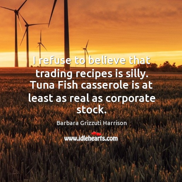 Image, I refuse to believe that trading recipes is silly.